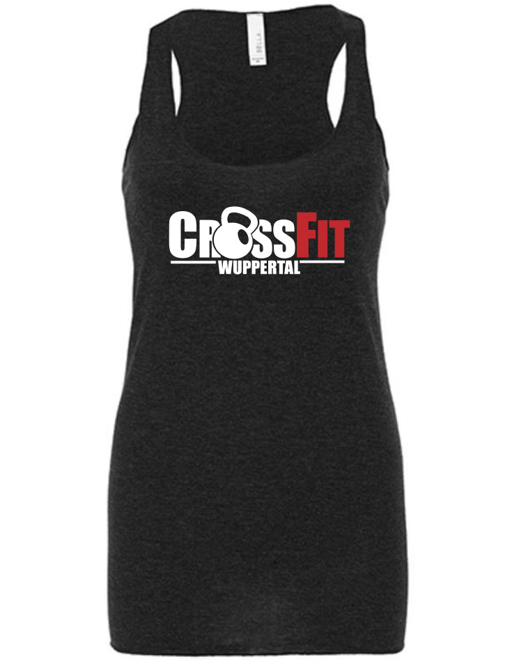 CrossFit Wuppertal Stop Wishing Start Doing Girly Tank Top mehrfarbig auf charcoal black