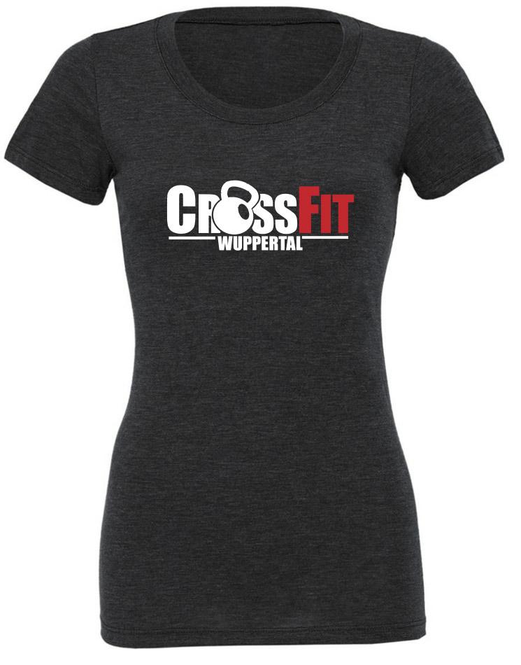 CrossFit Wuppertal Girly T-Shirt mehrfarbig auf charcoal black