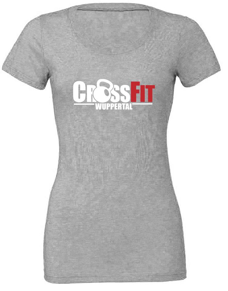 CrossFit Wuppertal CrossFit Wuppertal Girly T-Shirt mehrfarbig auf grey triblend