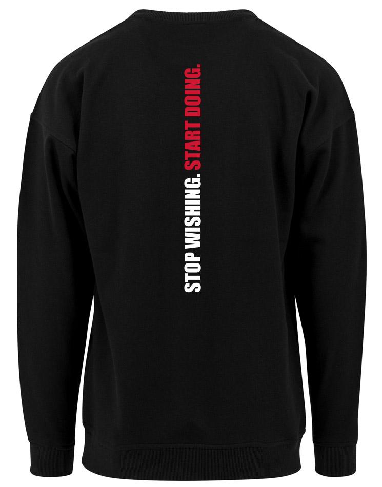 CrossFit Wuppertal Stop Wishing Start Doing Crew Neck Sweatshirt